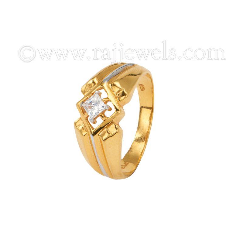 22k Gold Royal Cz Design Ring