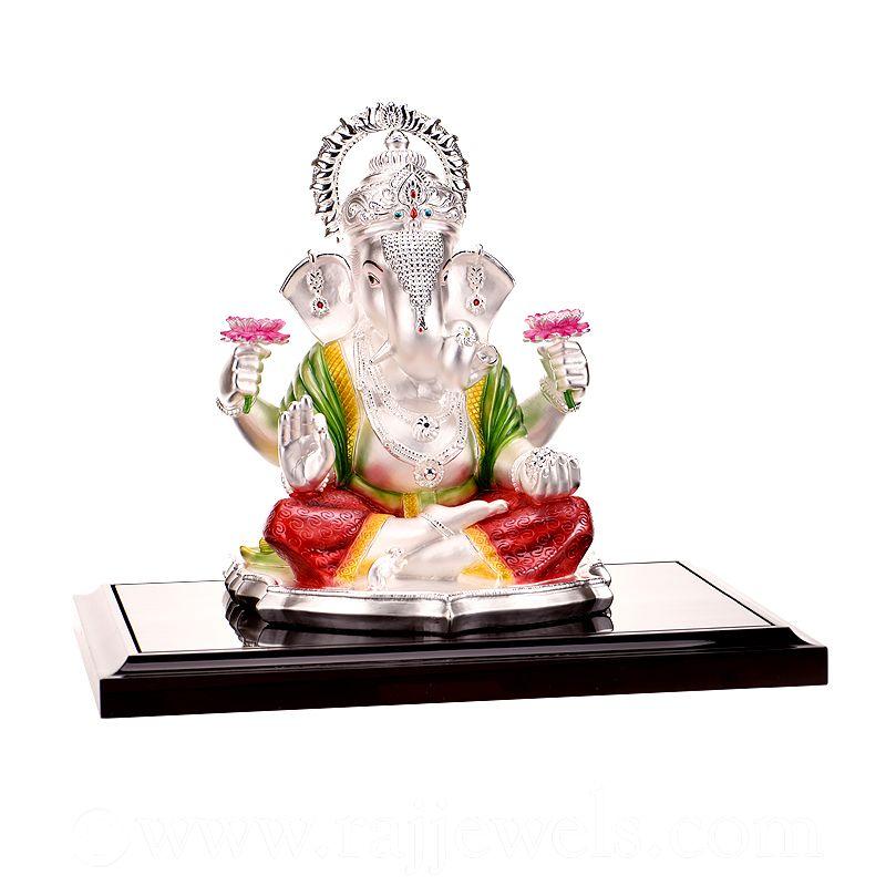 0.999 Silver Large Silver Ganpati Statue