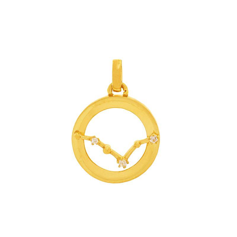 22k Gold Constellation CZ Gold Pendant