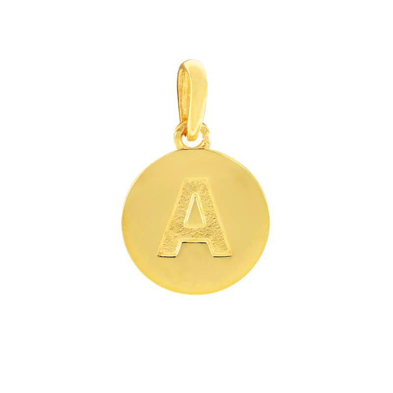22k Gold Initial A Pendant