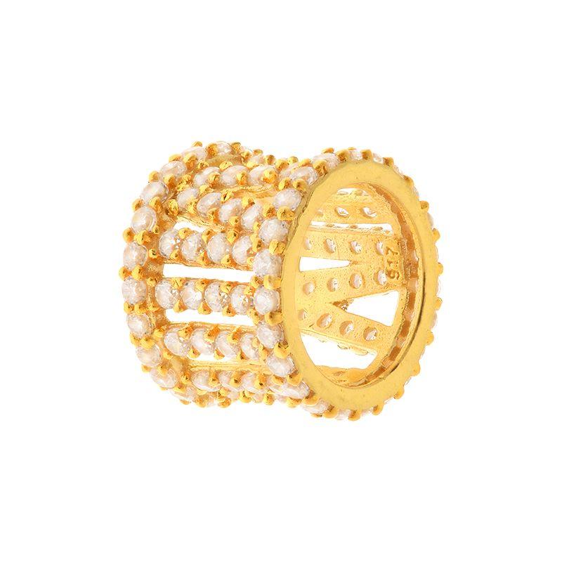 22k Gold Roman Numerals Barrel Pendant
