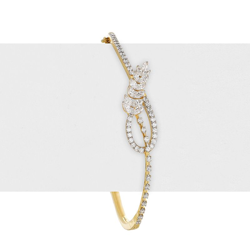 18k Diamond Diamond Designer Bangle Bracelet