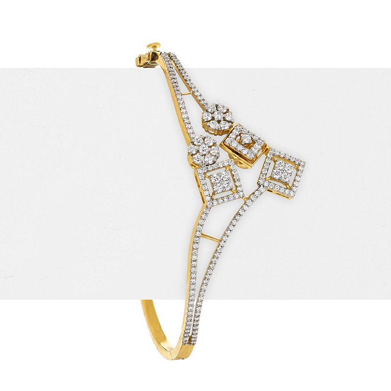 18k Diamond Multi Gems Diamond Bracelet