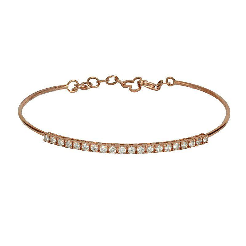 18k Diamond Rose Gold Tennis Bracelet