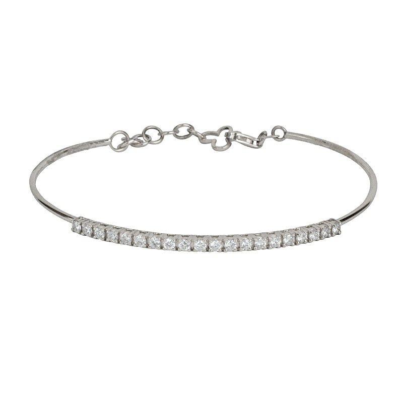 18k Diamond Semi Tennis Bracelet