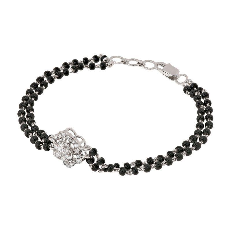 18k Diamond Floral Diamond Mangalsutra Bracelet
