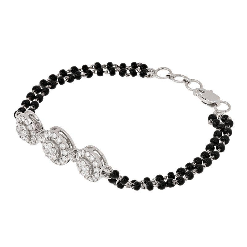 18k Diamond 3-Halo Mangalsutra Bracelet