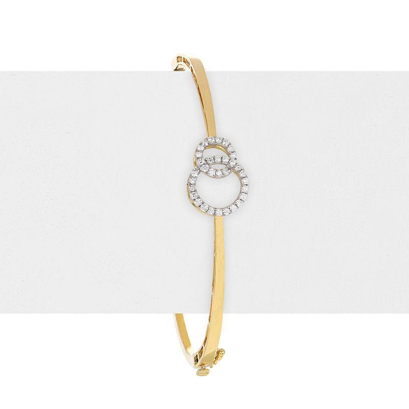 18k Diamond Love Circles Diamond Bangle