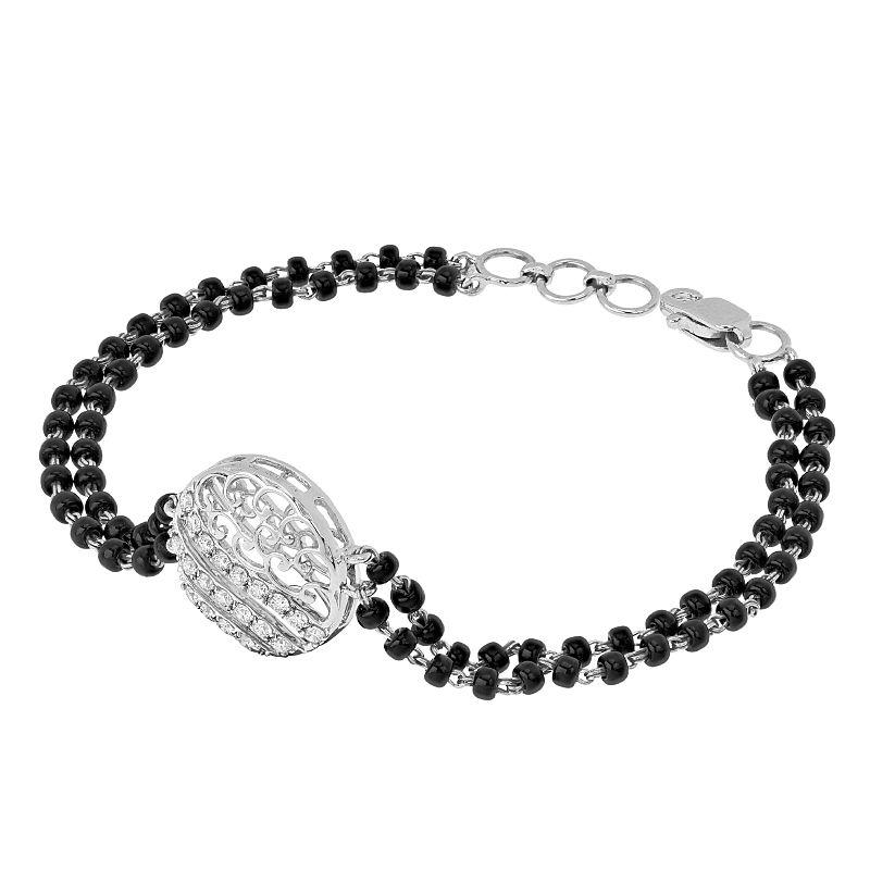 18k Diamond Circula Diamond Mangalsutra Bracelet