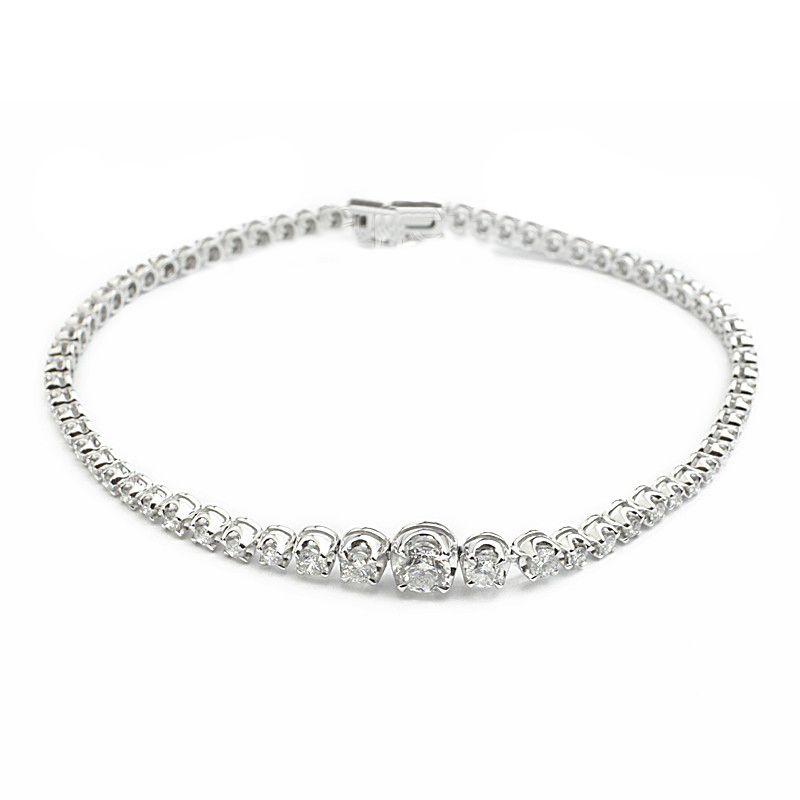18k Diamond 1.79 Ct Diamond Tennis Bracelet