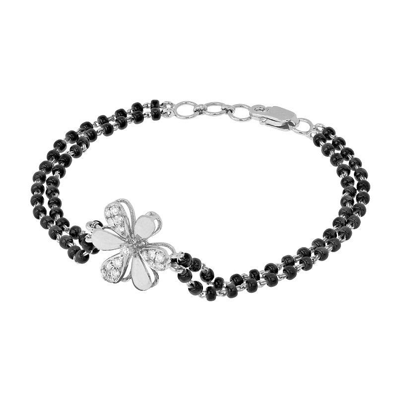 18k Diamond Daisy Diamond Mangalsutra Bracelet