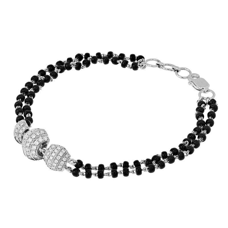 18k Diamond Diamond Beads Mangalsutra Bracelet