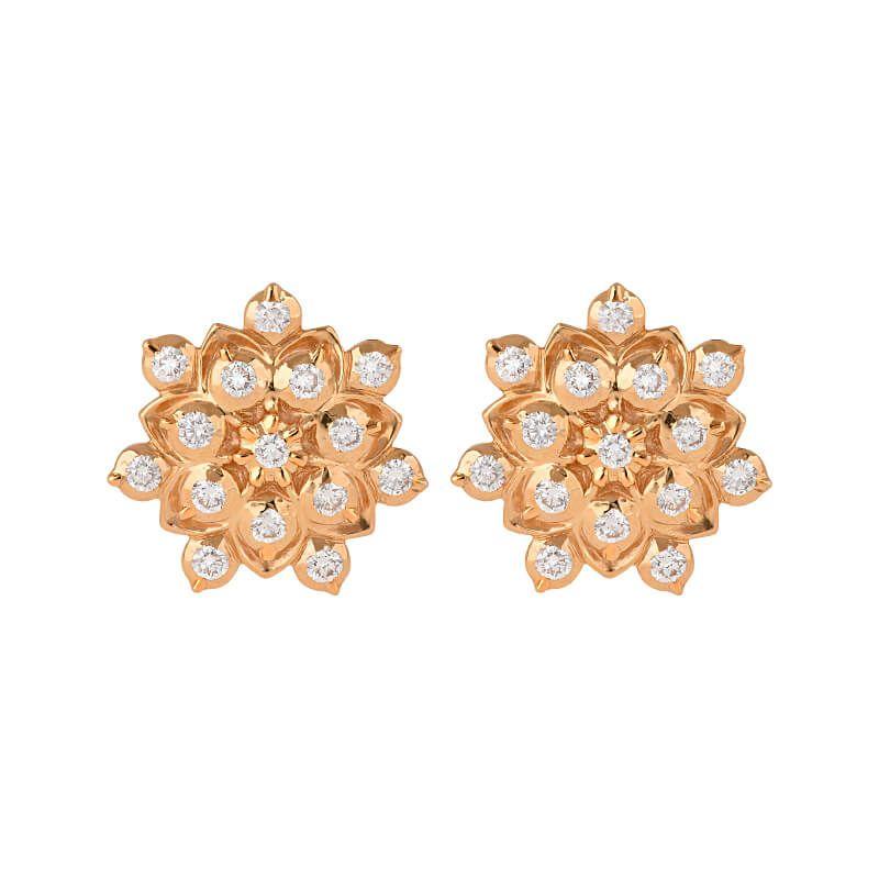 22k Diamond Floretti Diamond Studs