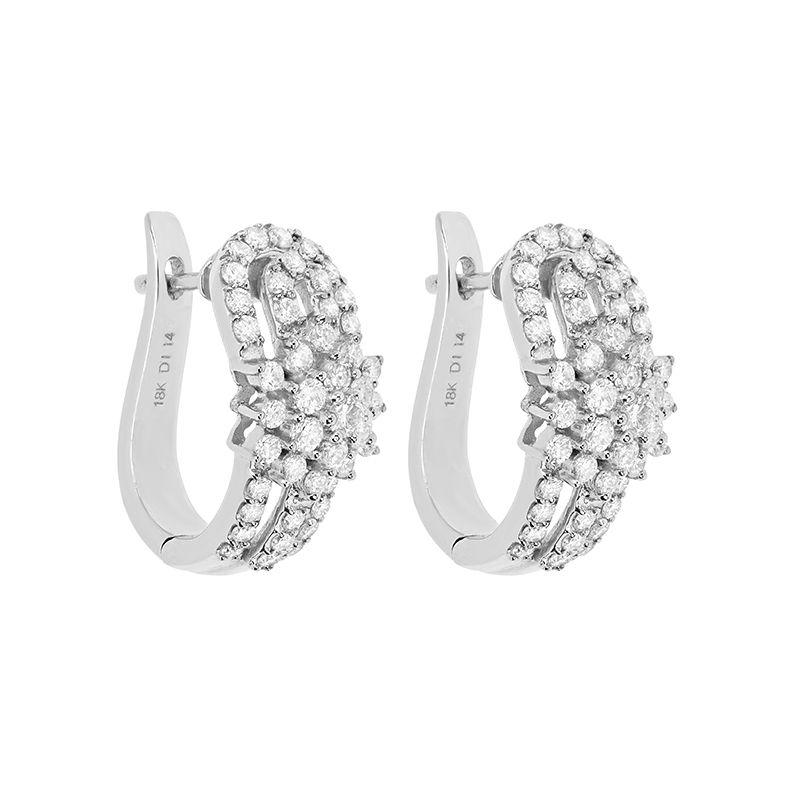 18k Diamond Florenza Diamond Huggies