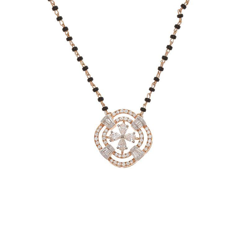 18k Diamond Fleura Diamond Mangalsutra