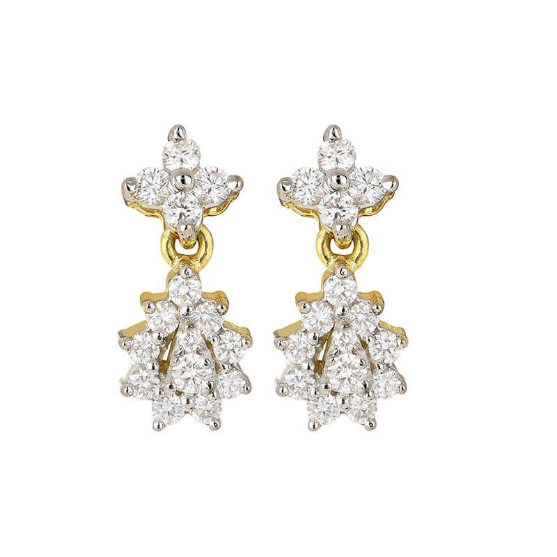 18k Diamond Ambor Diamond Earrings