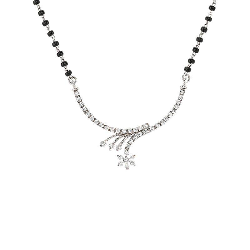 18k Diamond Sleek Design Diamond Mangalsutra