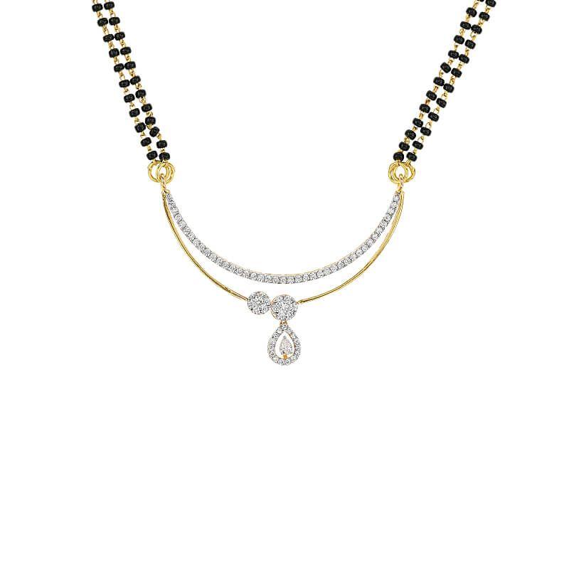 18k Diamond Alora Diamond Mangalsutra