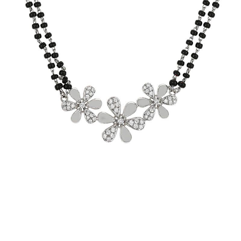 18k Diamond Daisy Diamond Mangalsutra
