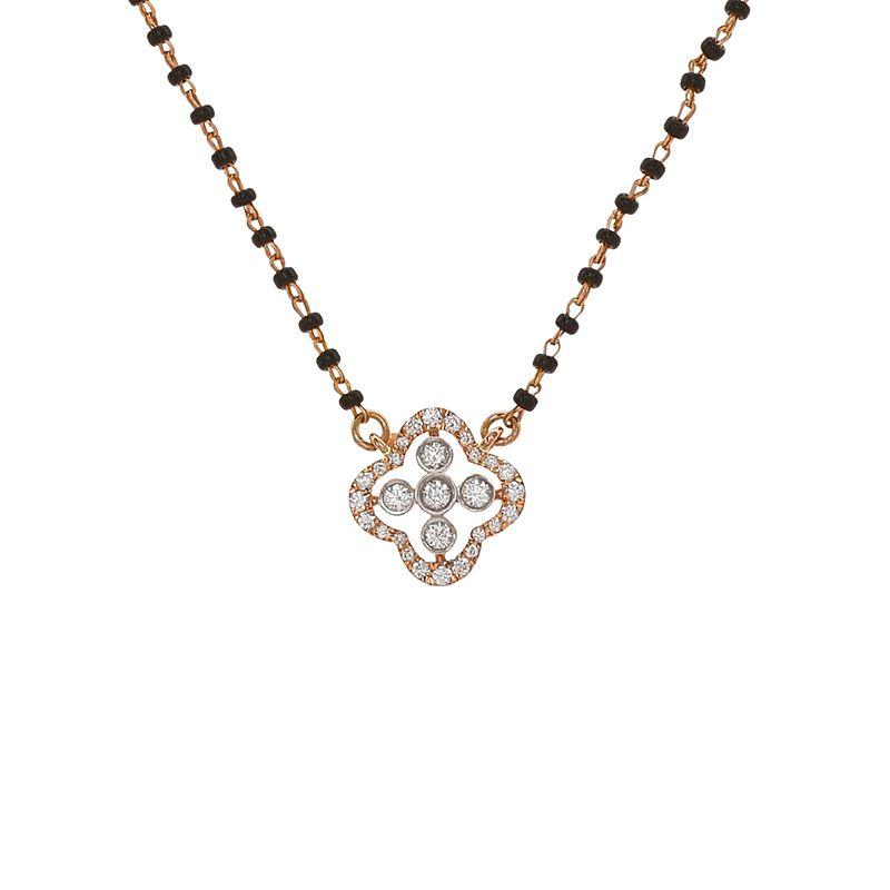 18k Diamond Diamond Clover Diamond Mangalsutra