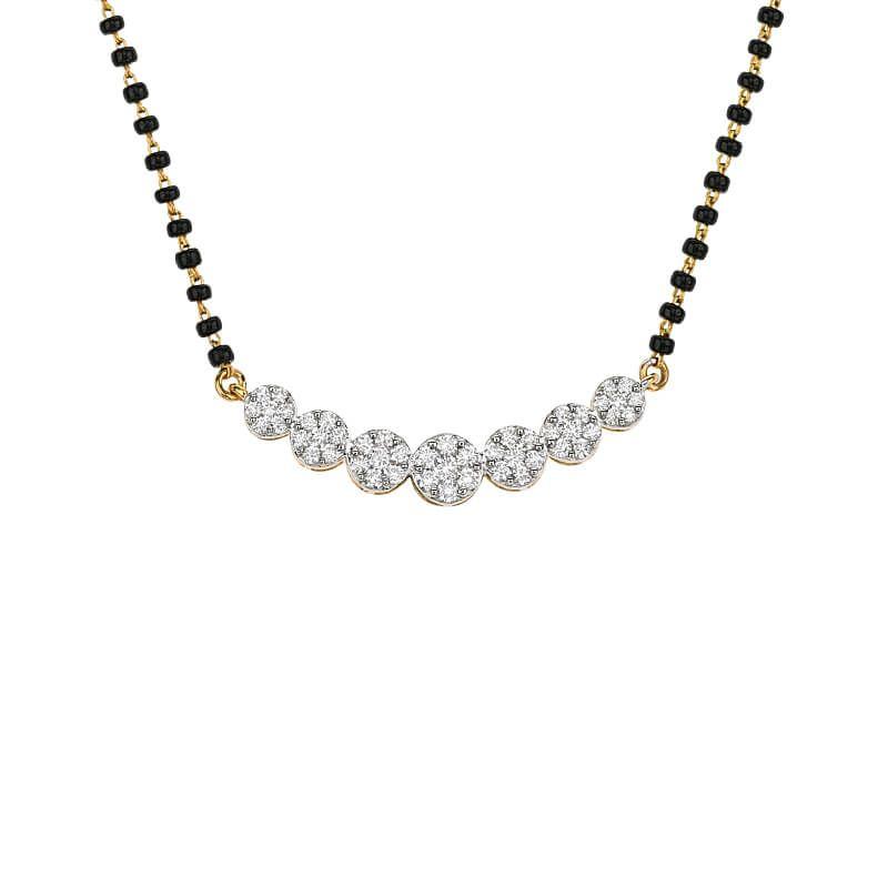 18k Diamond Florea Cluster Diamond Mangalsutra