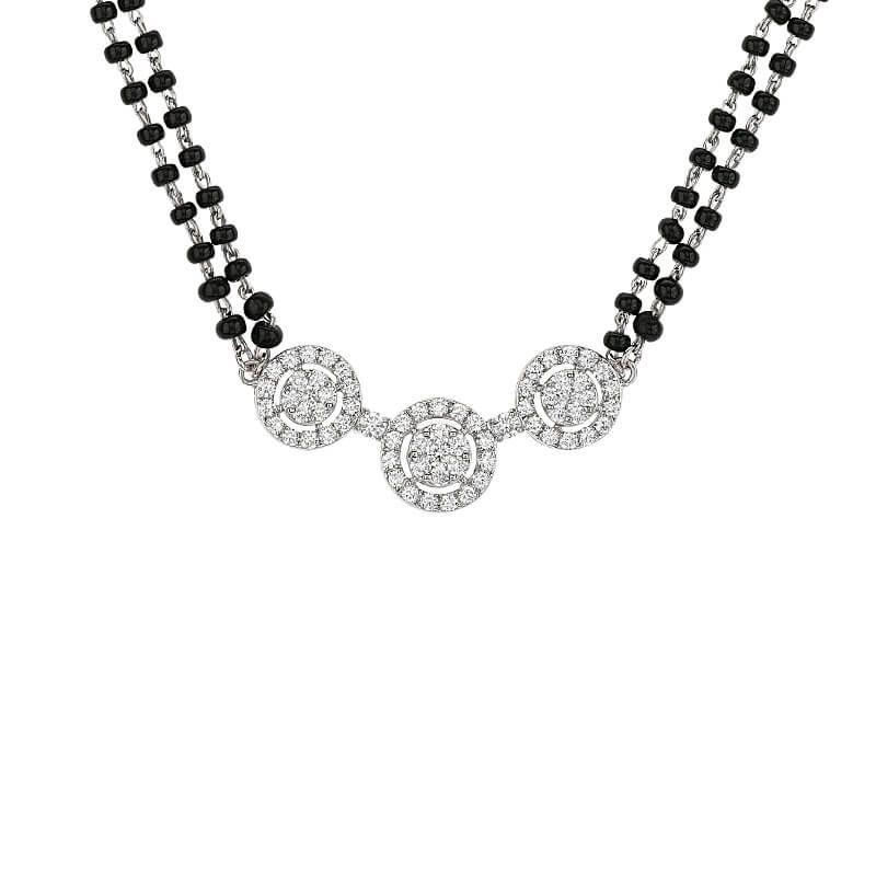 18k Diamond 3-Stones Diamond Mangalsutra