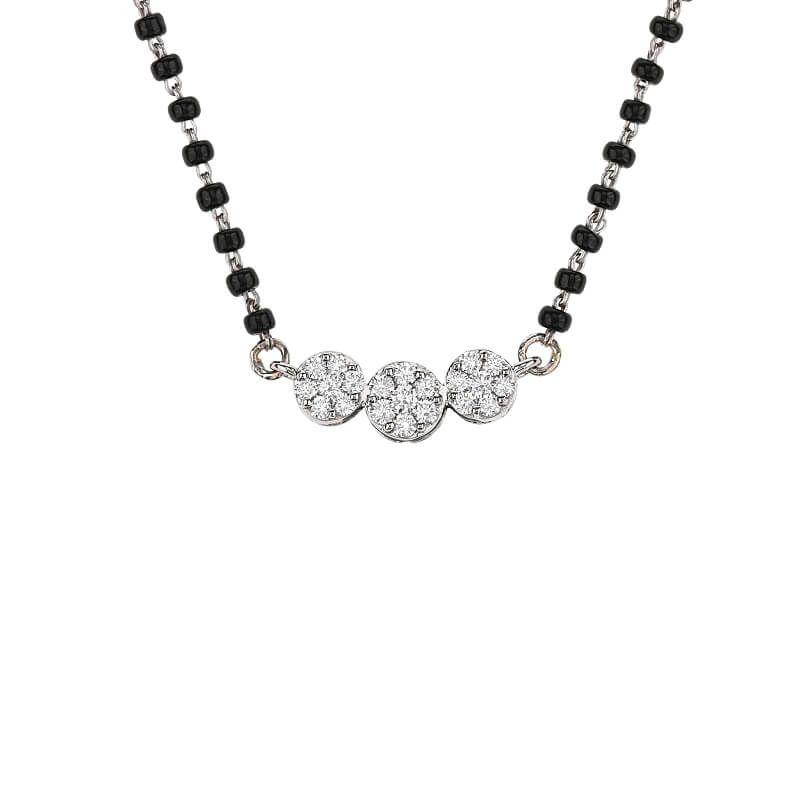 18k Diamond Florrets Diamond Mangalsutra
