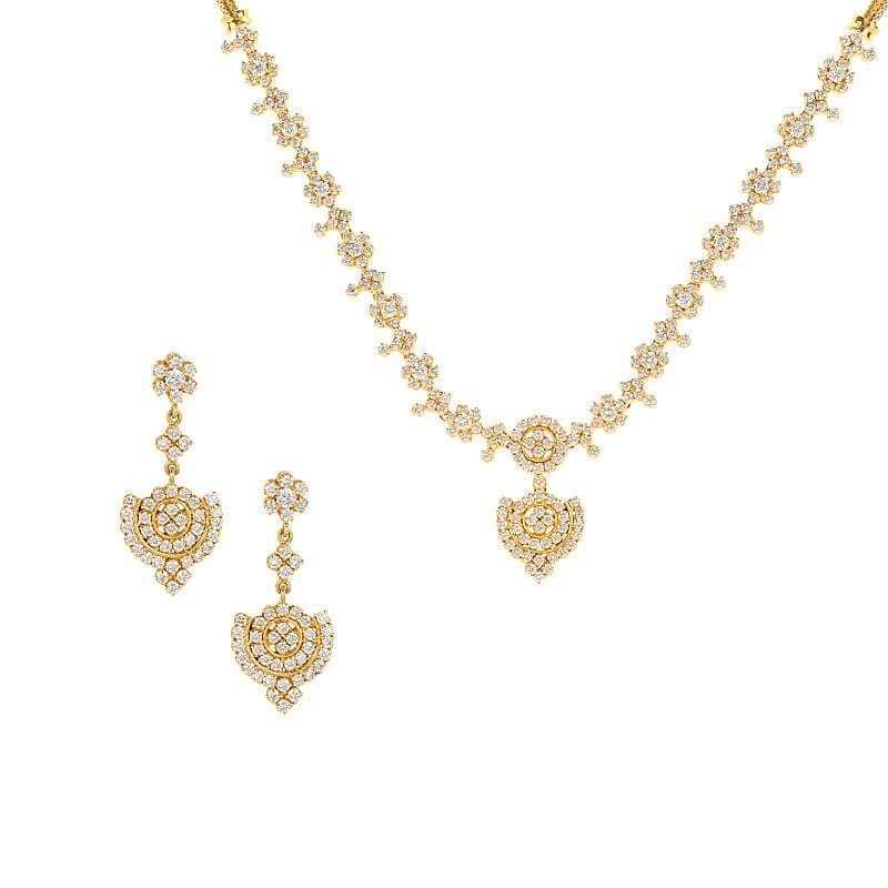 18k Diamond Exquisite Drop Diamond Necklace