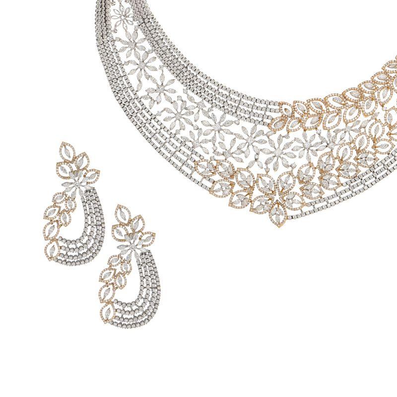 18k Diamond Luxurious Diamond Statement Necklace