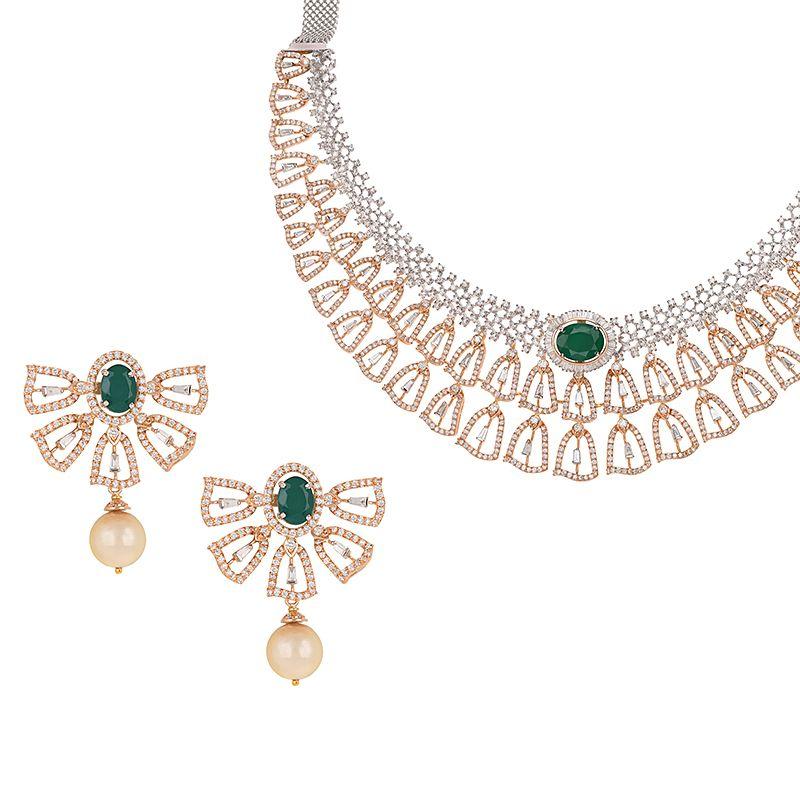 18k Diamond Enaisi Diamond Gems Necklace