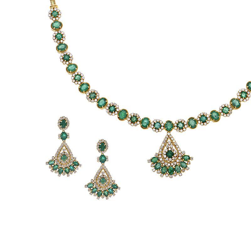 18k Diamond Lush Gems Diamond Necklace