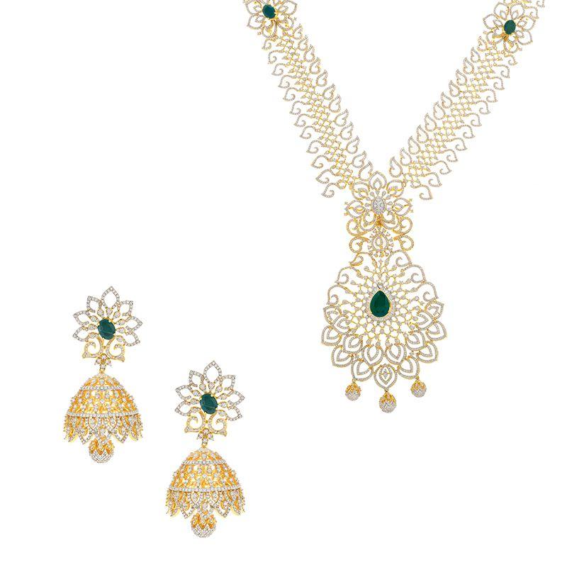 18k Diamond 2-in-1 Diamond Necklace Vaddanam