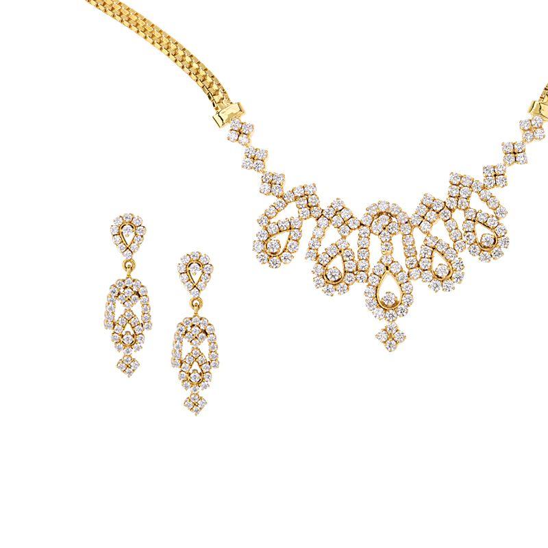 18k Diamond Riveta Diamond Necklace Set