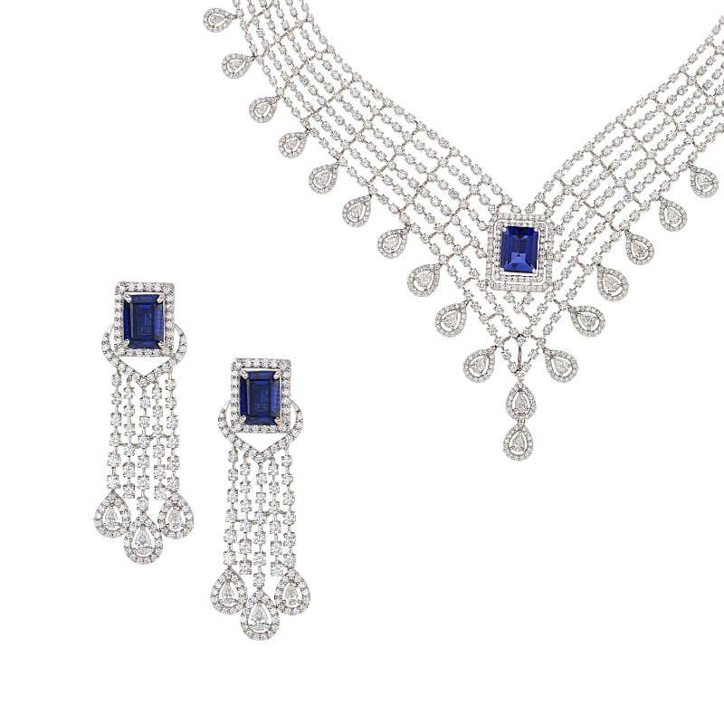 18k Diamond Avery Diamond Gems Necklace