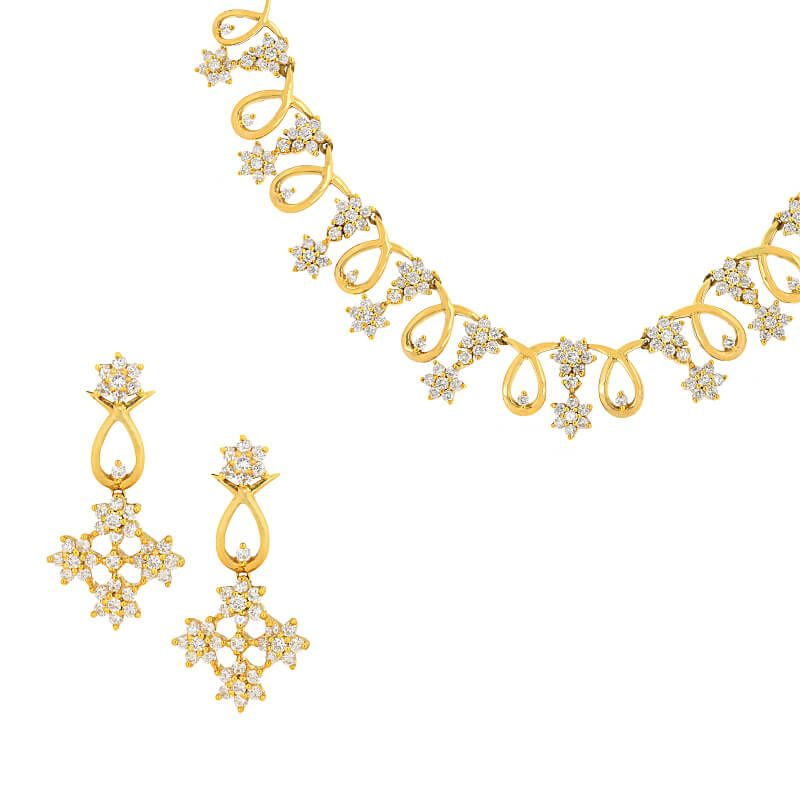18k Diamond Belle Diamond Necklace