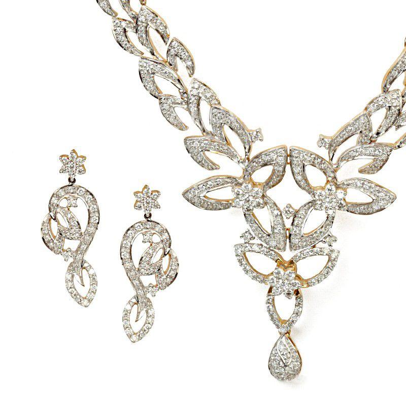 18k Diamond Florenza Diamond Necklace