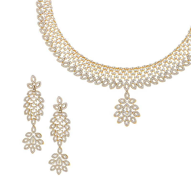 18k Diamond Aurore Diamond Necklace