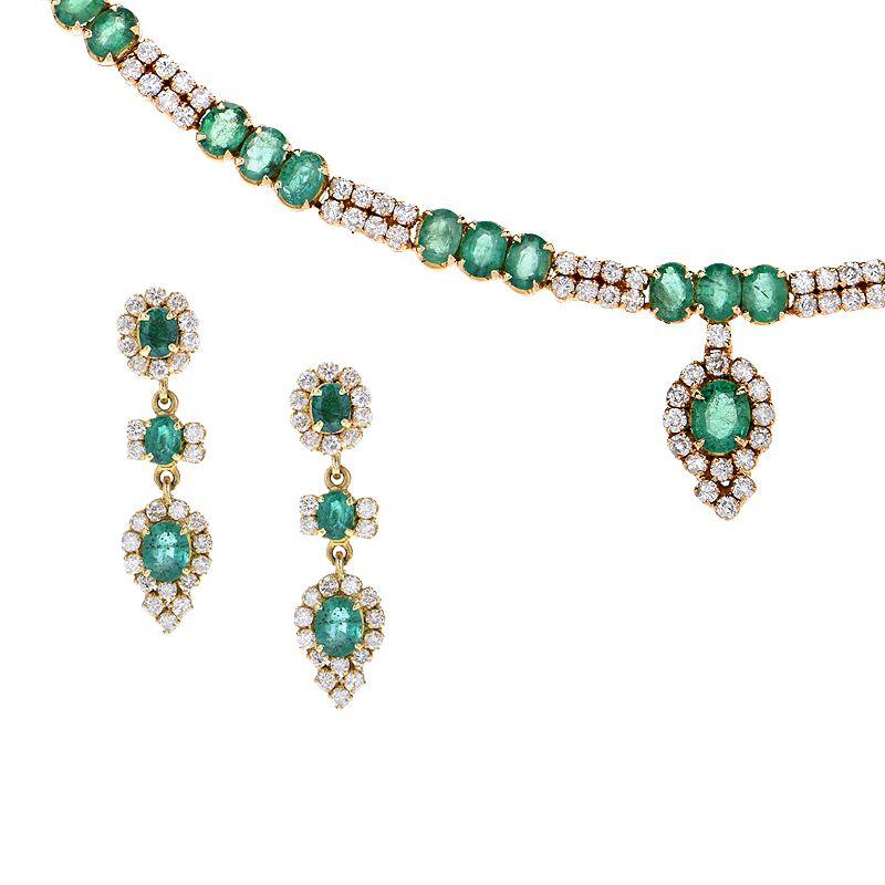 18k Diamond Verdant Diamond Necklace Set