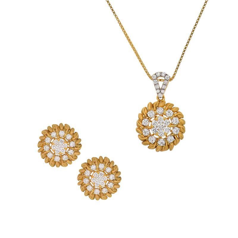 18k Diamond Florae Pendant Necklace