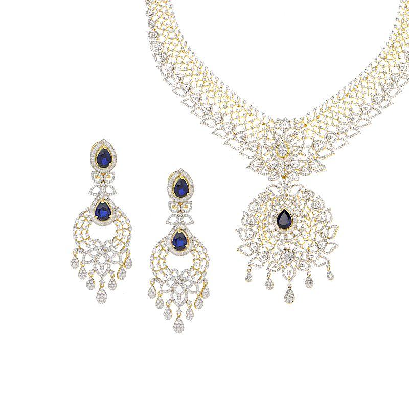 18k Diamond Dazzling Diamond Gems Necklace