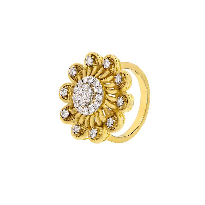 18k Diamond Antique Diamond Cocktail Ring