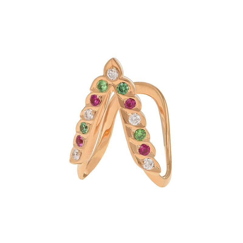22k Diamond Diamond Gemstone Vanki Ring
