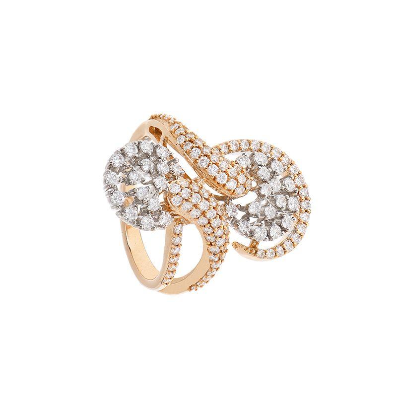 18k Diamond Diamond Rose Cocktail Ring