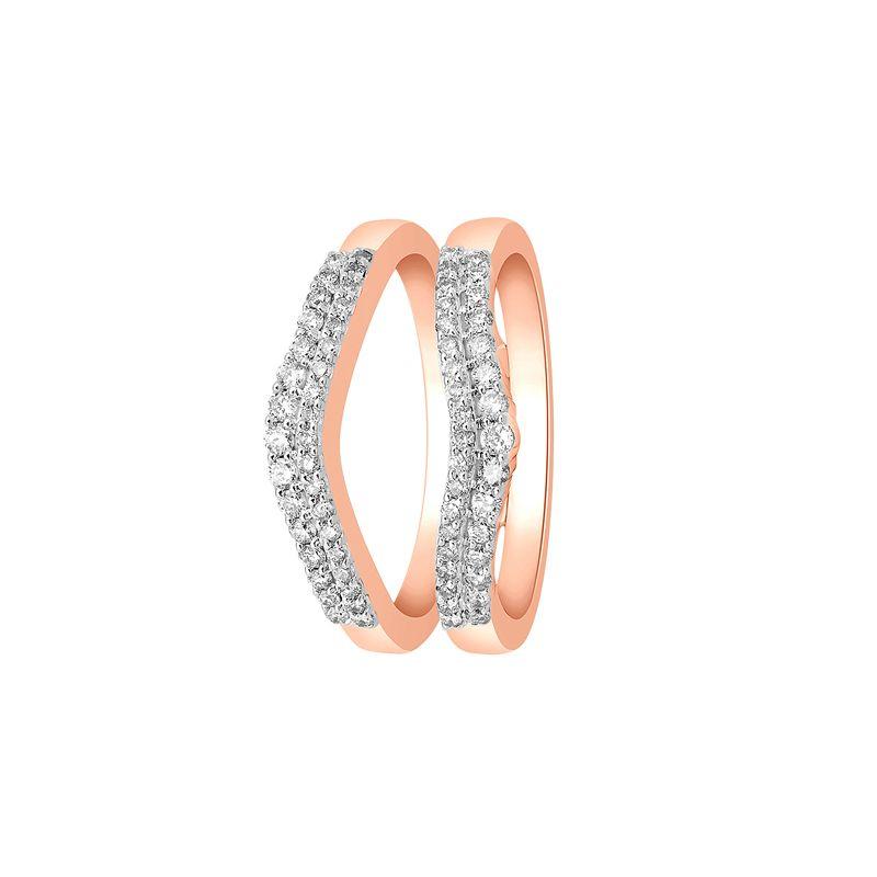 18k Diamond Rose Gold Diamond Enhancer