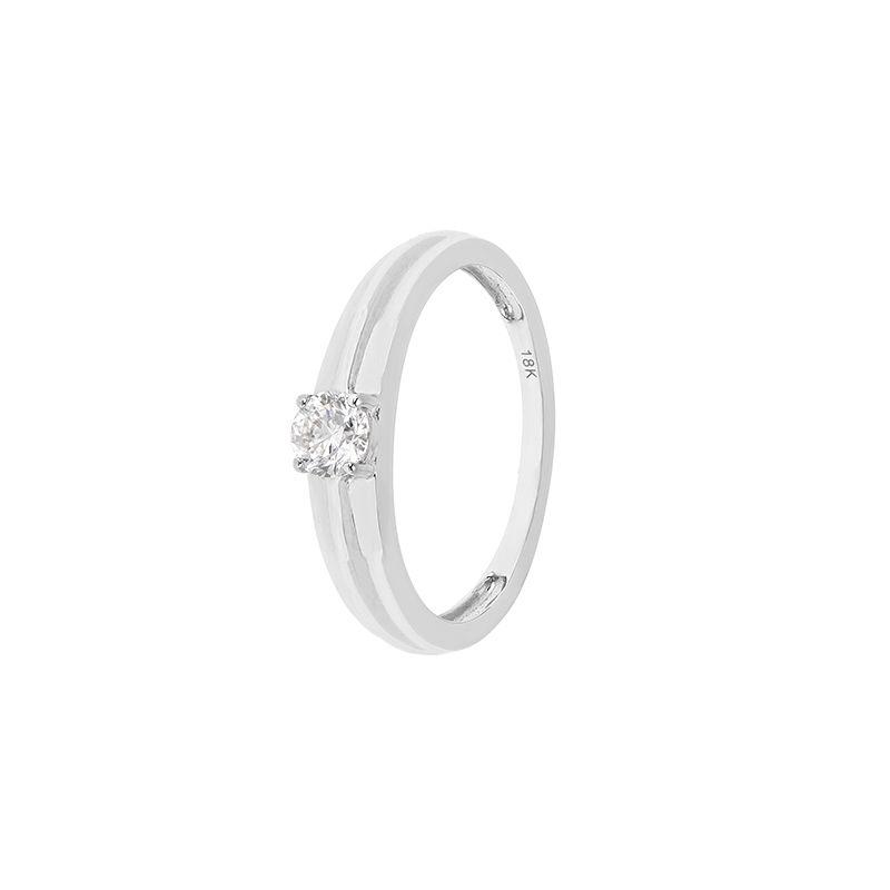 18k Diamond Single Stone Diamond Ring