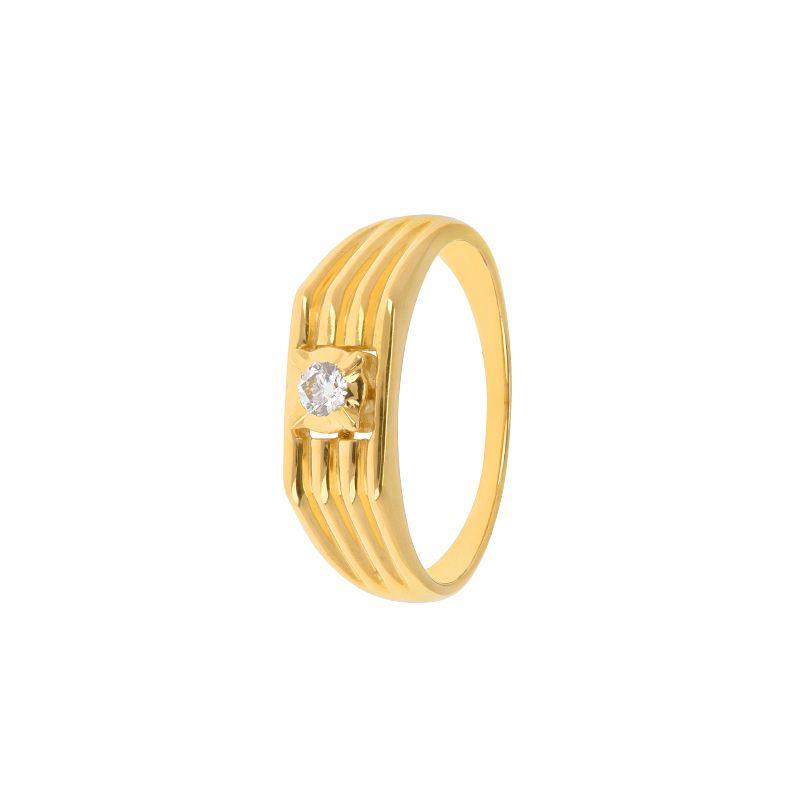 22k Diamond Solitaire Diamond Band