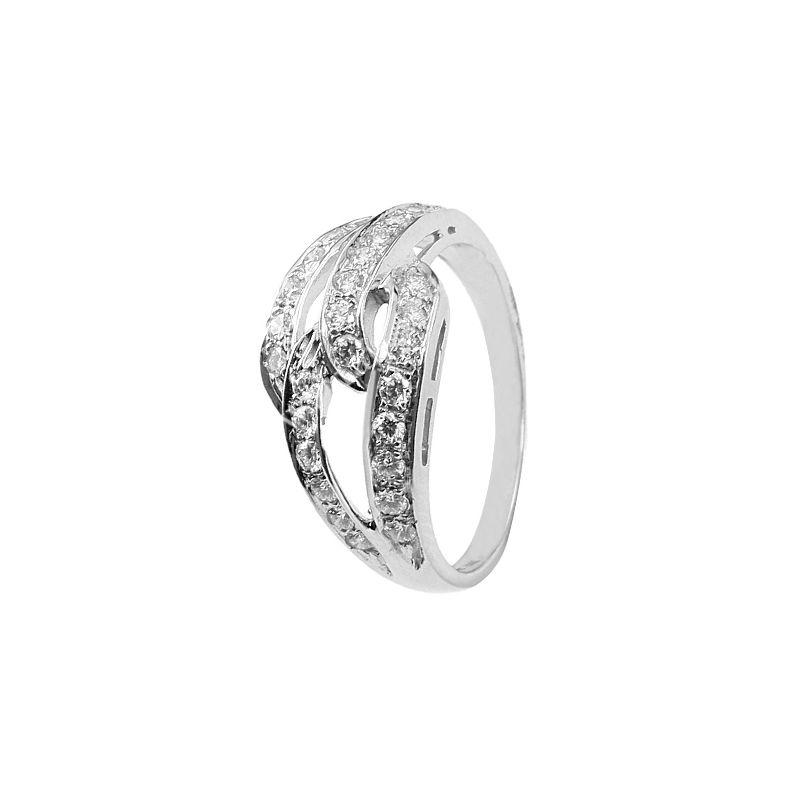 18k Diamond Waves Cluster Ring