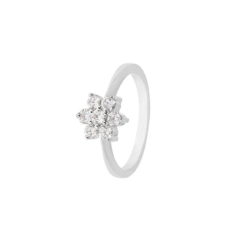 18k Diamond White Floret Diamond Ring