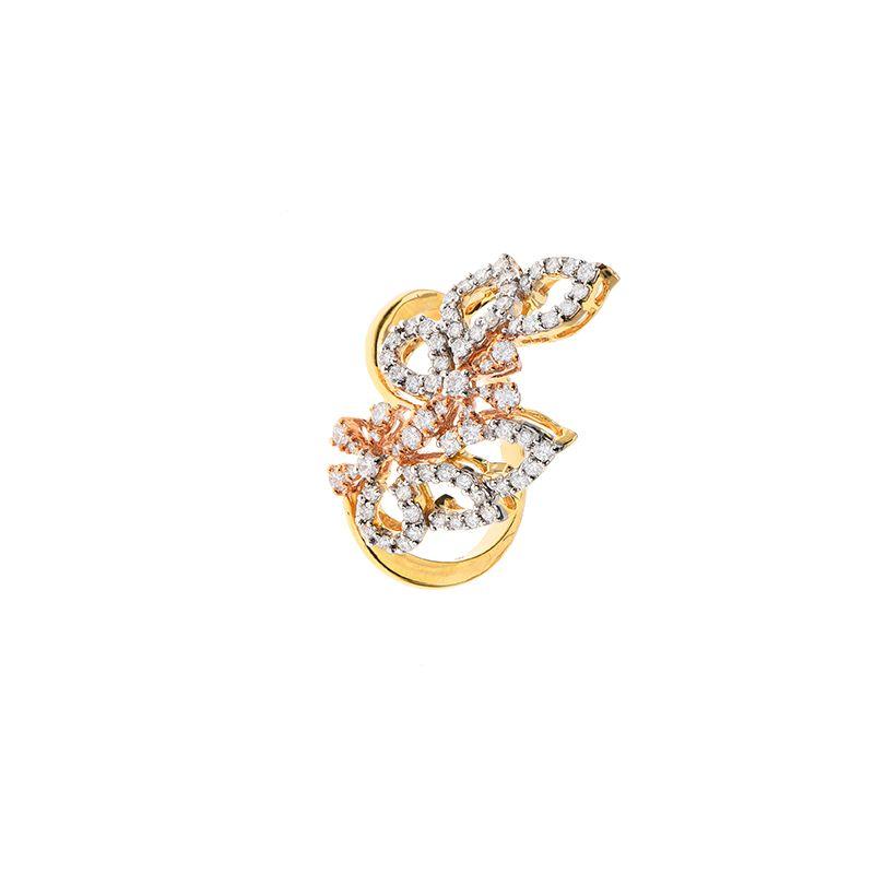 18k Diamond Rosa Fancy Diamond Ring