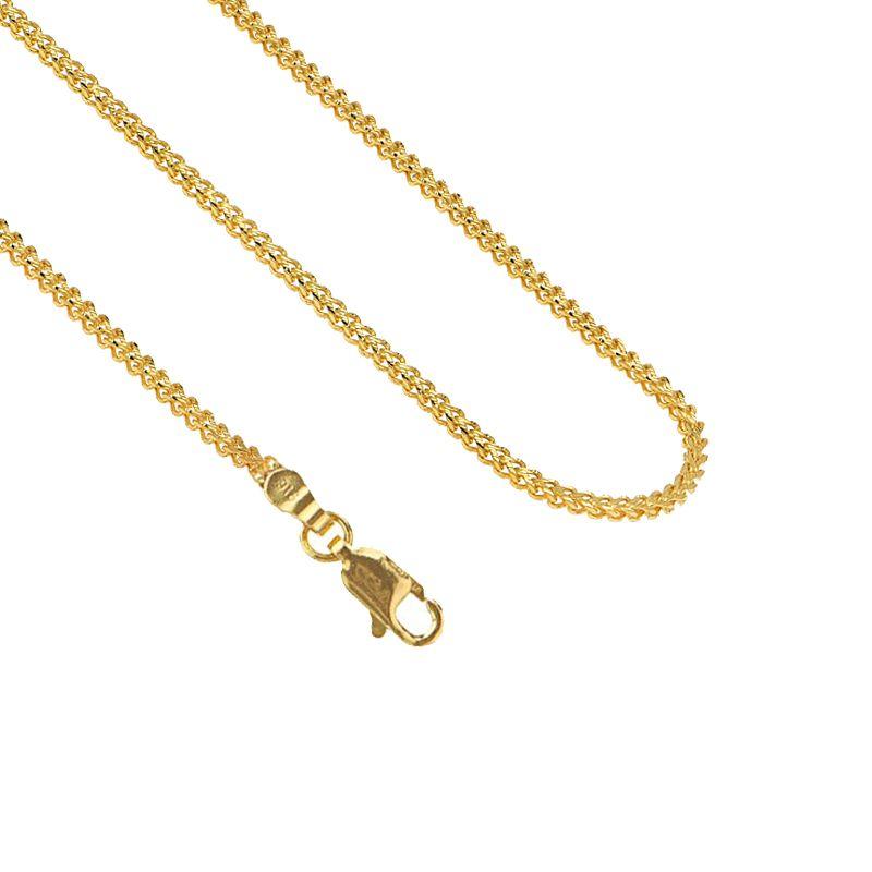 22k Gold Fox Diamond Cut Chain - 16